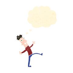 retro cartoon dancing man
