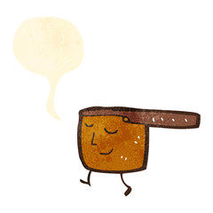 retro cartoon copper pan
