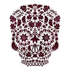 day of the dead skull design