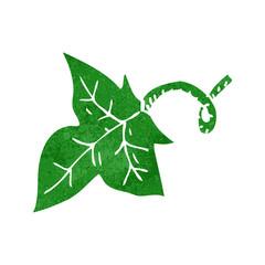 retro cartoon leaf