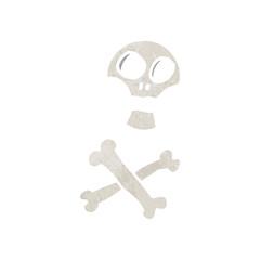 Printed roller blinds Watercolor Skull retro cartoon skull and crossbones symbol