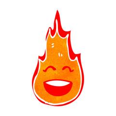 retro cartoon flame