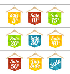 Vector sale labels set