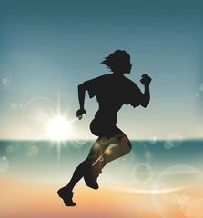 Runner under Sunset