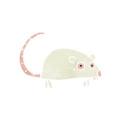 retro cartoon white mouse