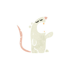 retro cartoon white mouse