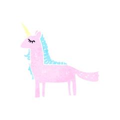 retro cartoon unicorn