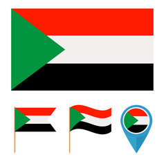 Sudan, country flag
