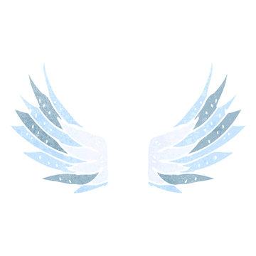 retro cartoon wings symbol