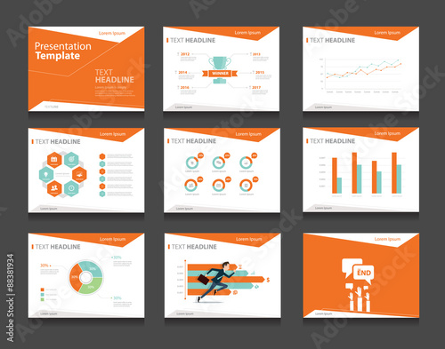 Orange infographic business presentation template setpowerpoint orange infographic business presentation template setpowerpoint template design backgrounds toneelgroepblik Images