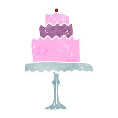 retro cartoon cake on stand