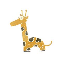 retro cartoon giraffe