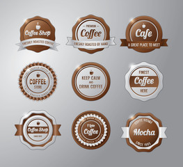 Coffee badge set collection