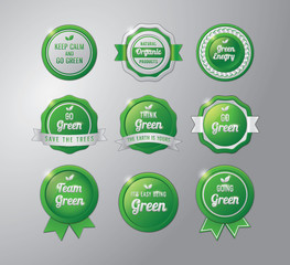 Green badge collection