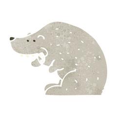 retro cartoon polar bear