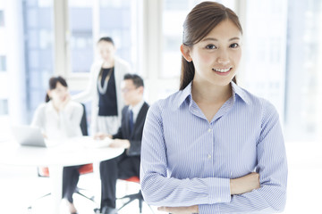 Japanese woman in the office