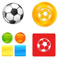 Soccer football vector button icons