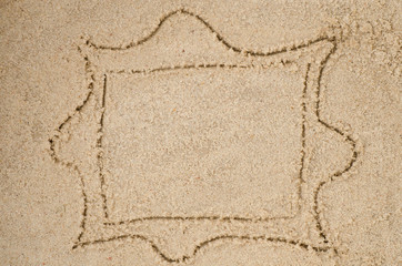 frame drawing on sand