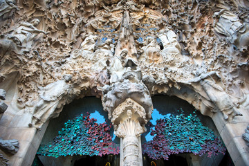 Stone works at Sagrada Familia