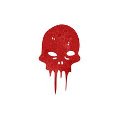 Printed roller blinds Watercolor Skull retro cartoon melting skull