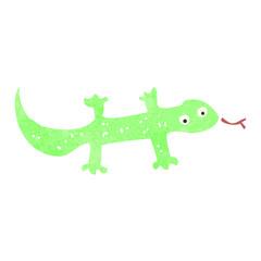 retro cartoon lizard