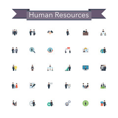 Human Resources Flat Icons