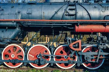 Vintage diesel locomotive