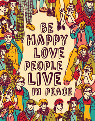 Love people positive emotion poster