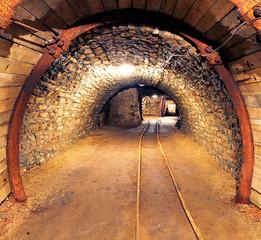 Fototapete - Gold, silver, copper mine