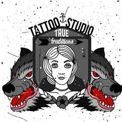 Homemade tattoo t-shirt design.