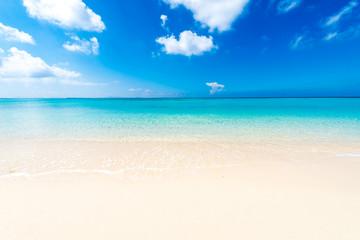 Beautiful sea and the white beach, Okinawa, Japan