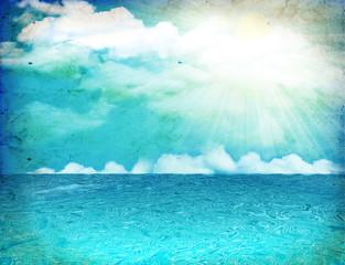 Sea nature image.Vintage  image