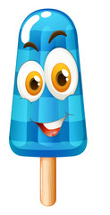 Popsicle with happy face