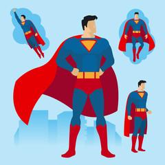 Superhero poses set