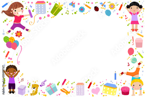 Cute children background stock image and royalty free vector cute children background voltagebd Choice Image