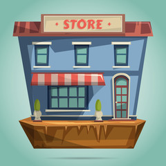 Store or shop facade. Flat design vector illustration