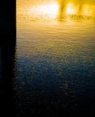 sunShines under the bridge evening