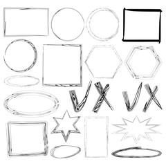 set of drawn frames