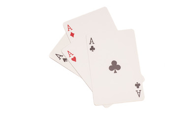 Four aces - including spades, hearts, clubs and diamonds
