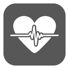 The heart icon. Cardiology and cardiogram, ecg, cardio symbol. Flat