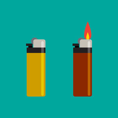 Long Lighters icon in flat style