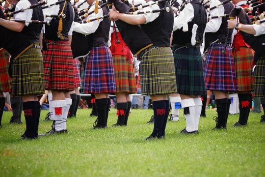 Scottish bagpipe band