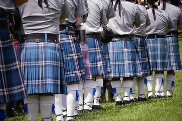 Wall Mural - Scottish bagpipe band