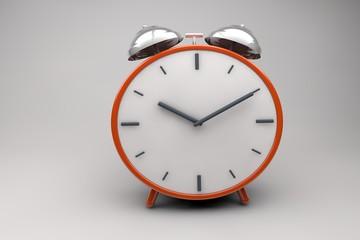 Clock/Orange 3d Clock With Little Bells