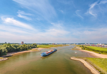 The Nederrijn river in front of the Dutch city of Arnhem