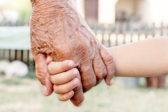 Grandchild and grandparent