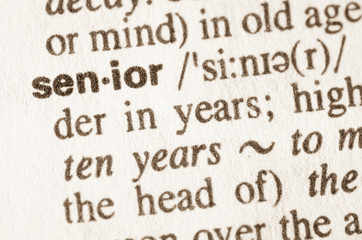 Dictionary definition of word senior