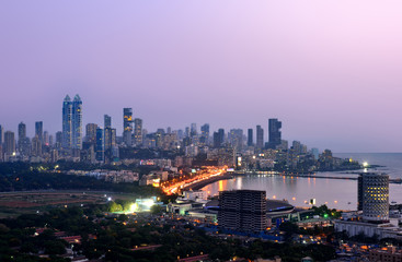 Aerial Mumbai by night