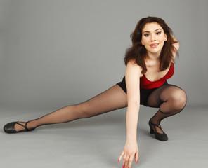 A dancer striking a pose.