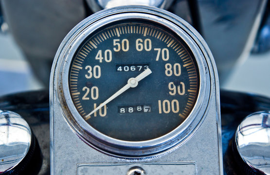 vintage speedometer